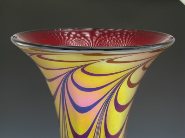 SIGNED STRINI FLORENTINE ART GLASS VASE
