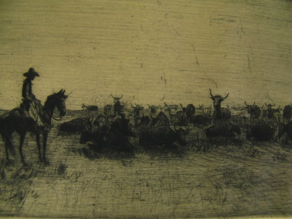 PENCIL SIGNED ETCHING BY HENRY ZIEGLER (1889-1968)