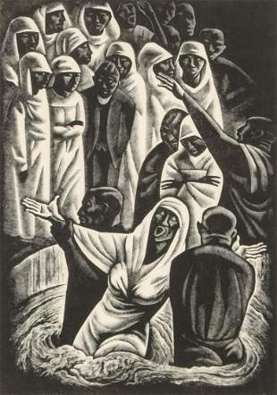 HOWARD COOK (1901-1980) PENCIL SIGNED WOOD ENGRAVING