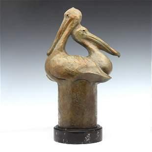 TIM CHERRY (B. 1965) MODERNIST BRONZE SCULPTURE