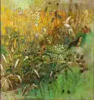 ROBERT SUDLOW (1920-2010) OIL ON CANVAS DATED 1971
