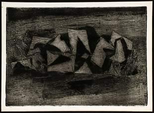 WARD LOCKWOOD (1894-1963) PENCIL SIGNED ETCHING