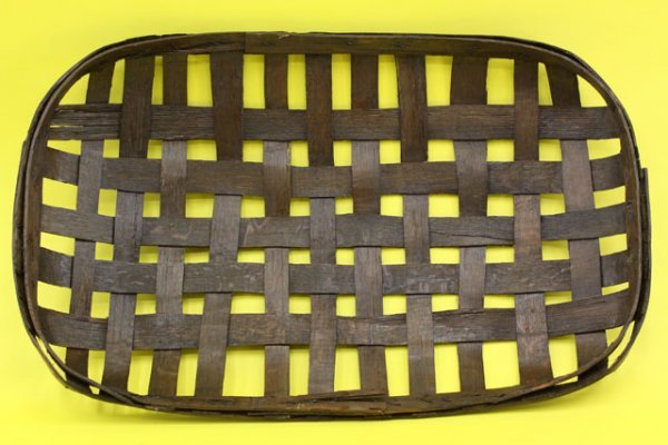 14: 19TH CENTURY OPEN WEAVE TOBACCO BASKET