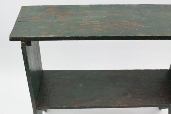 17: 19TH C.  BUCKET SHELF WITH BOOTJACK SIDES