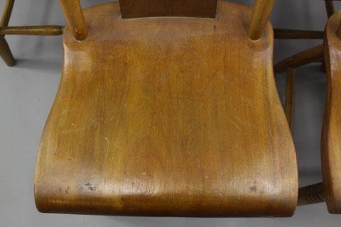 19: SIX HOURGLASS BACK CHAIRS
