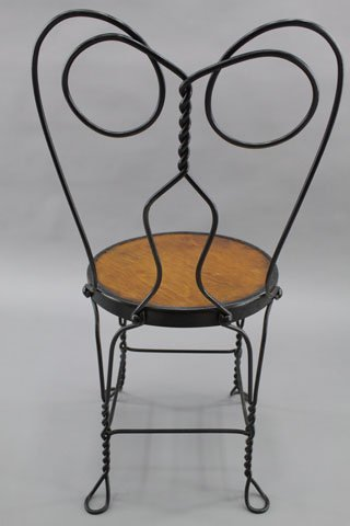 188A: EARLY 1900'S ICE CREAM PARLOR TABLE & CHAIR SET - 7