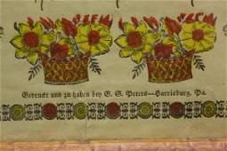 288: PA GERMAN BIRTH & BAPTISM FRAKTUR CERTIFICATE