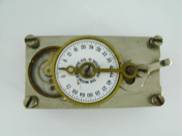 MOSLER SAFE RUBY JEWELLED TIME CLOCK