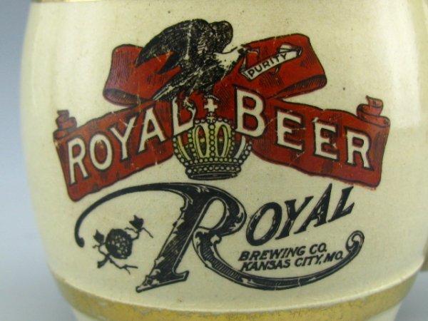 STONEWARE ADVERT CUP ROYAL BEER KANSAS CITY