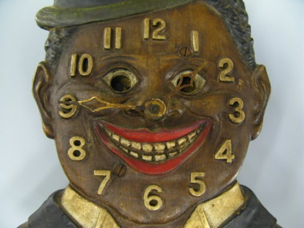LUX DIXIE BOY OR SAMBO ANIMATED CLOCK