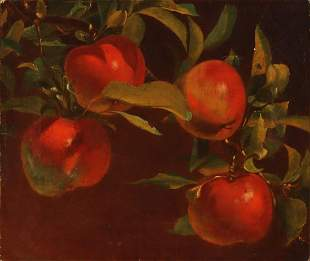 OIL ON CANVAS ATTRIBUTED TO NEW YORK ARTIST RAWSTORNE