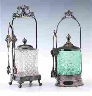 TWO 19TH CENTURY VICTORIAN PICKLE CASTORS