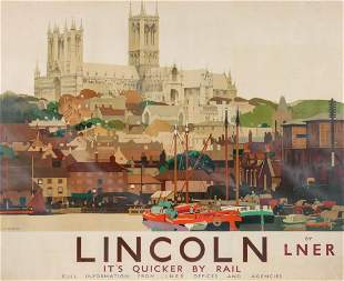 A 1930s BRITISH RAILWAYS ADVERTISING POSTER
