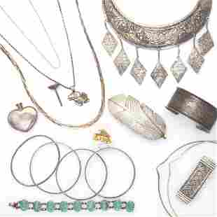STERLING SILVER AND SIMILAR JEWELRY INCL TIFFANY