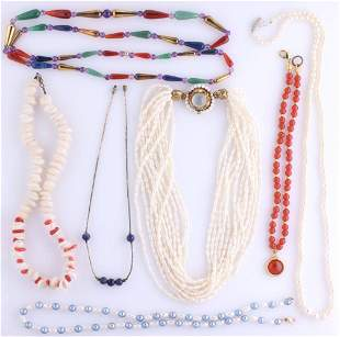 JEWELRY INCL FRESHWATER AND CULTURED PEARL STRANDS