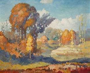 JOHN W. ORTH (1889-1975) OIL ON CANVAS