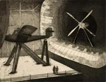 HARRY MACK (B. 1907) PENCIL SIGNED AQUATINT WPA PRINT