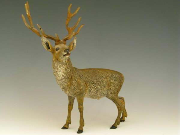 COLD PAINTED VIENNA BRONZE STAG FIGURE