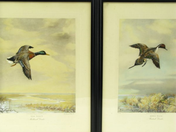 PENCIL SIGNED ROLAND CLARK COLOR LITHOS WATERFOWL