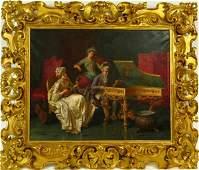 PIO RICCI ITALIAN 18501919 19TH C OIL ON CANVAS