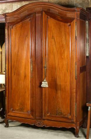 AN 18TH CENTURY LOUIS XV FRUITWOOD ARMOIRE