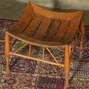 AN EGYPTIAN REVIVAL THEBES STOOL
