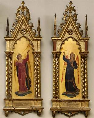 TWO GRAND TOUR PERIOD 19TH C. WORKS AFTER FRA ANGELICO