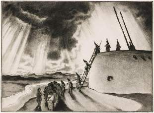 GENE KLOSS (1903-1996) PENCIL SIGNED AQUATINT