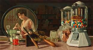 ROBERT BYERLEY (BORN 1941) OIL ON ARTIST'S BOARD