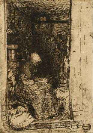JAMES WHISTLER (1934-1903) DRYPOINT ETCHING