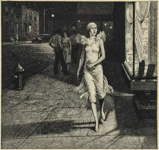 MARTIN LEWIS (1881 - 1962) PENCIL SIGNED ETCHING