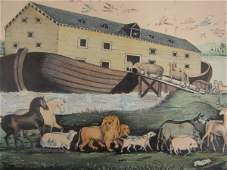 204: TWO CURRIER & IVES NOAH'S ARK LITHOGRAPHS