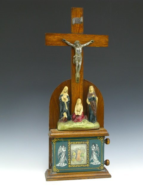 320: 109 SCROLLING STATIONS OF THE CROSS CRUCIFIX ICON - 2