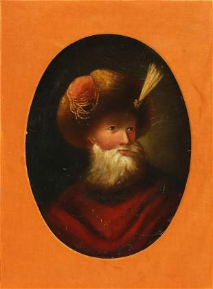 A 19TH CENTURY PORTRAIT OF RUSSIAN WEARING A PAPAKHA