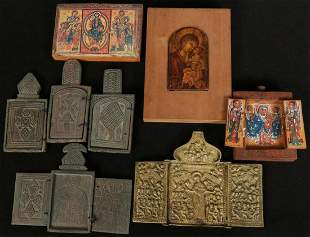 A COLLECTION OF STONE ETHIOPIAN AND OTHER ICONS