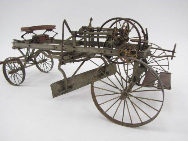 RARE & EARLY SALESMAN'S SAMPLE ROAD GRADER, HORSE DRAWN