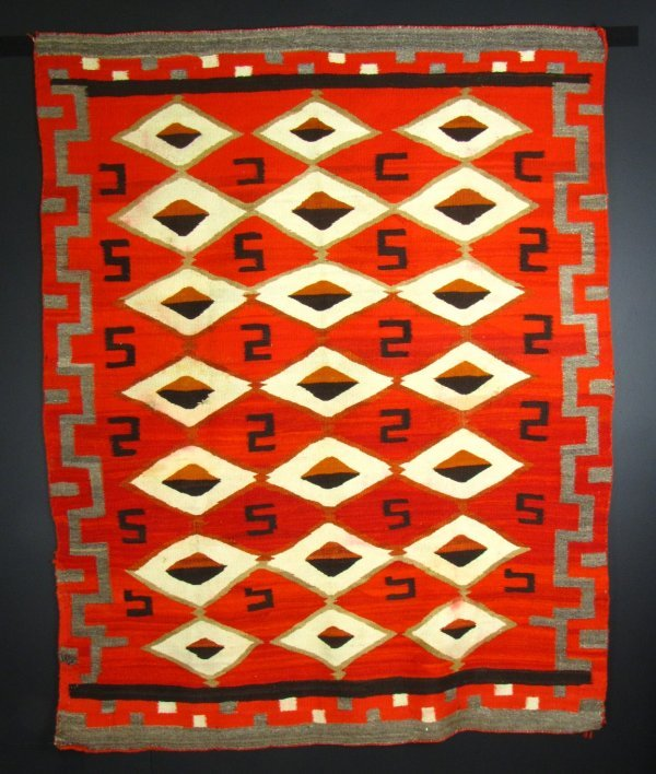A LATE 19TH CENTURY NAVAJO BLANKET
