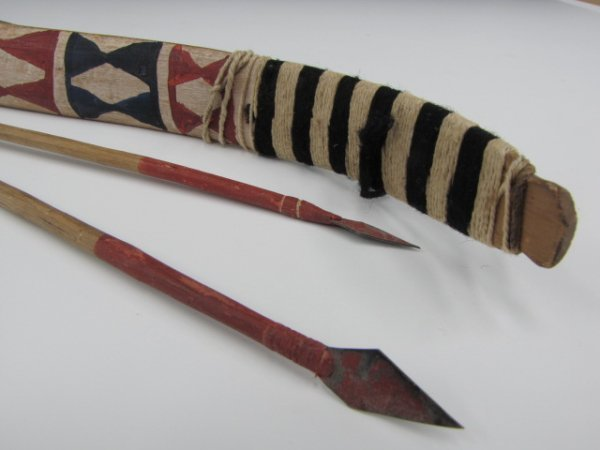 A MODOC PAINTED WOOD DANCE BOW
