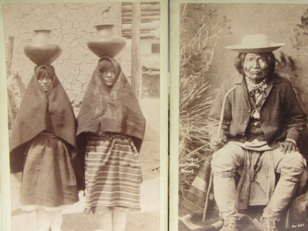 TWO NATIVE AMERICAN PHOTOS BY SANTA FE ROUTE