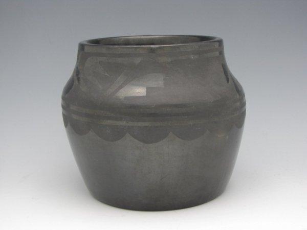 TONITA ROYBAL SAN ILDEFONSO BLACK POTTERY JAR