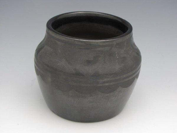 TONITA ROYBAL SAN ILDEFONSO BLACK POTTERY JAR - 3