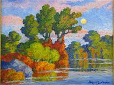 BIRGER SANDZEN (1871 - 1954) OIL ON PANEL