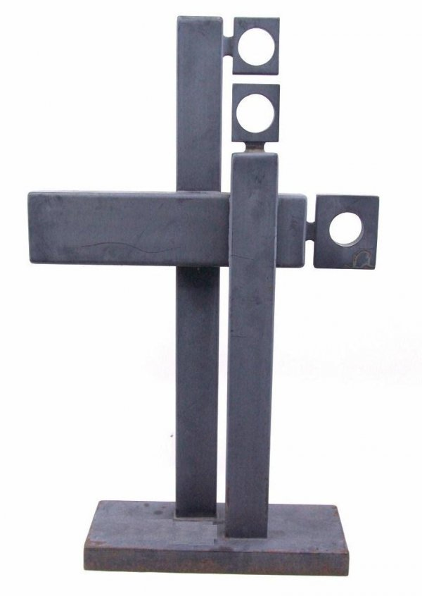 ARLIE REGIER (1931 - ) STEEL SCULPTURE