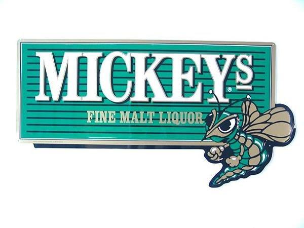 4: MICKEYS FINE MALT LIQUOR MINT UNUSED TIN SIGN