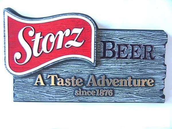 5: STORZ BEER MINT UNUSED PLASTIC SIGN