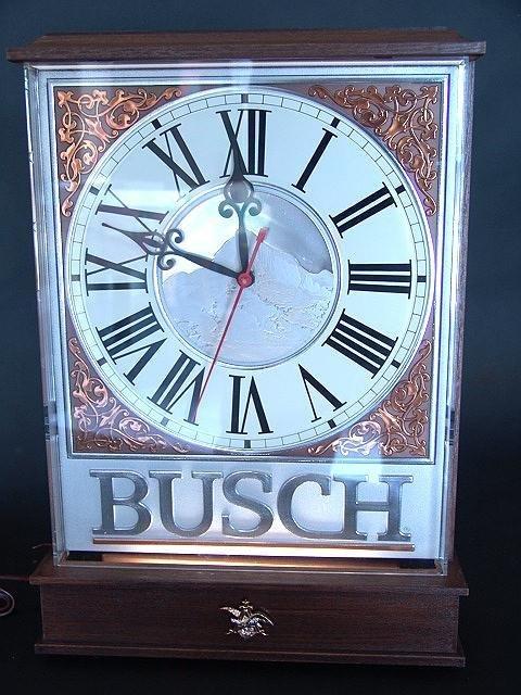 6: BUSCH LIGHTED CLOCK, MINT UNUSED