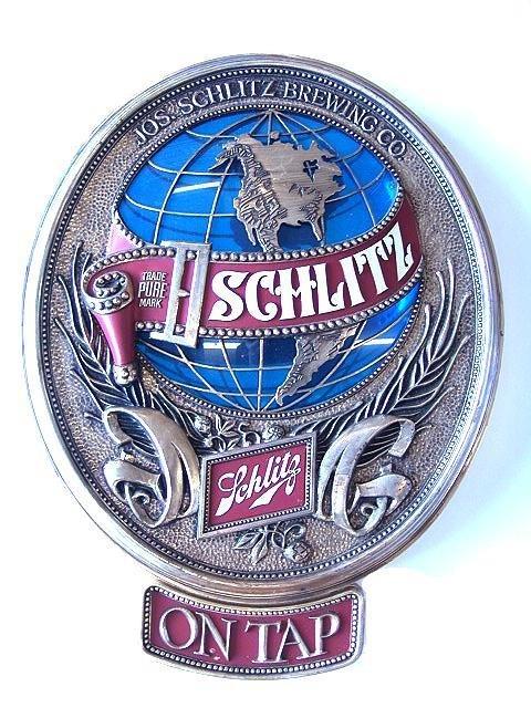 8: 1977 SCHLITZ ON TAP BEER SIGN