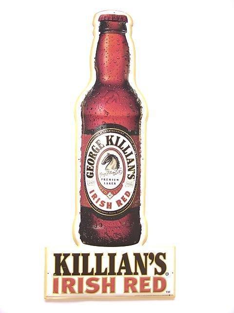 9: KILLIAN'S IRISH RED BEER MINT UNUSED TIN SIGN
