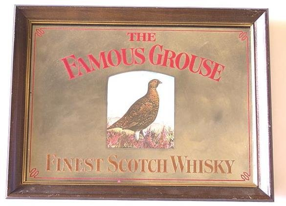10: FAMOUS GROUSE WHISKEY ADVERTISING MIRROR
