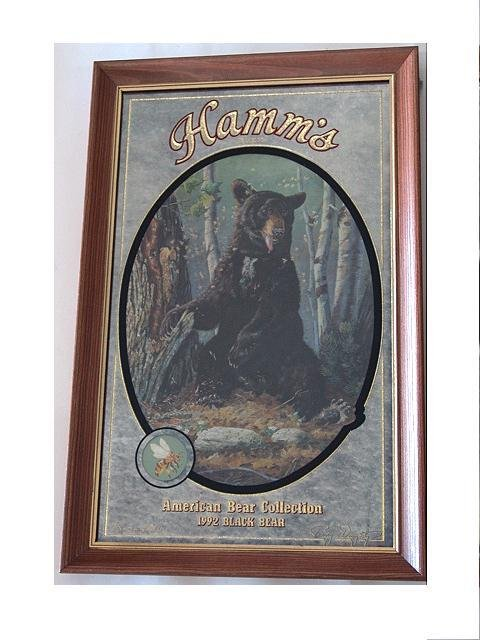 66: SET OF FOUR HAMM'S BEER ADVERTISING BEAR MIRRORS - 3
